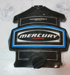 mercury outboard thunderbolt ignition blue black front cowl cover green bay propeller marine llc [ 1600 x 1200 Pixel ]