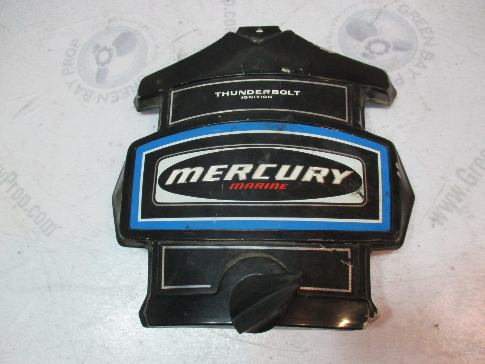 hight resolution of mercury outboard thunderbolt ignition blue black front cowl cover green bay propeller marine llc