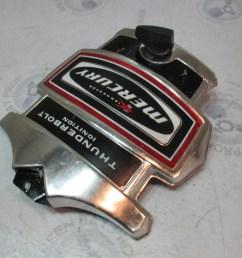 mercury kiekhaefer thunderbolt ignition front cowling cover black red  [ 1600 x 1200 Pixel ]
