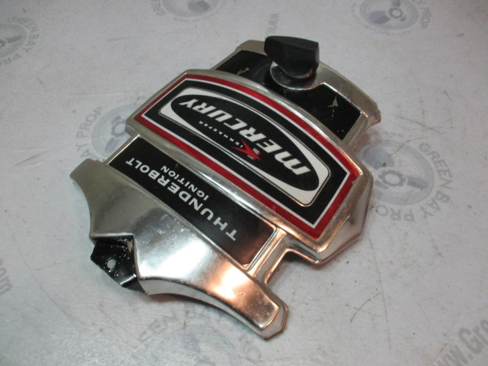 medium resolution of  mercury kiekhaefer thunderbolt ignition front cowling cover black red