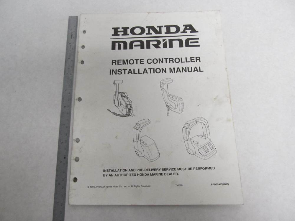 medium resolution of ppd52400 honda marine remote controller installation manual 15 hp green bay propeller marine llc