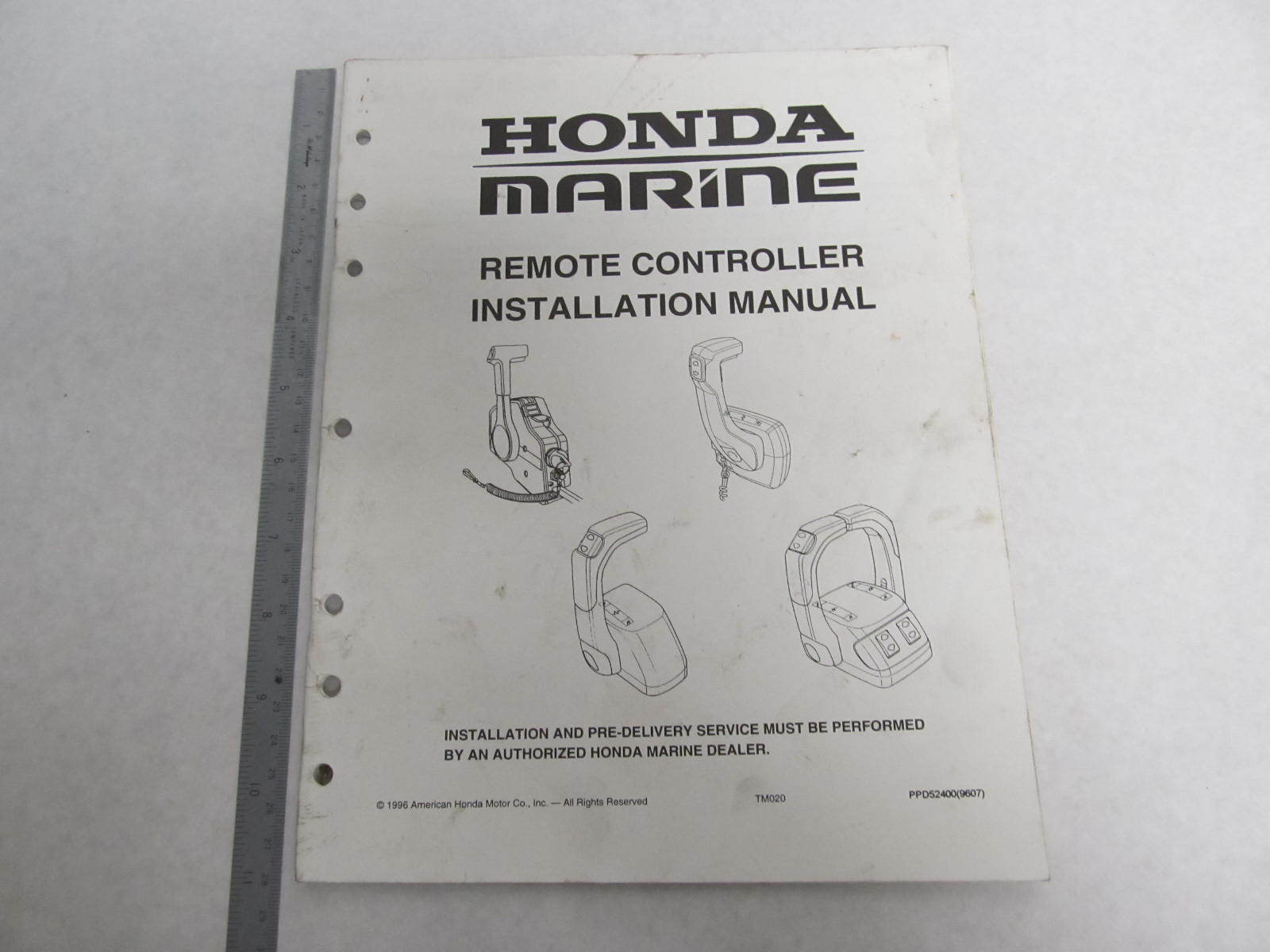 hight resolution of ppd52400 honda marine remote controller installation manual 15 hp green bay propeller marine llc