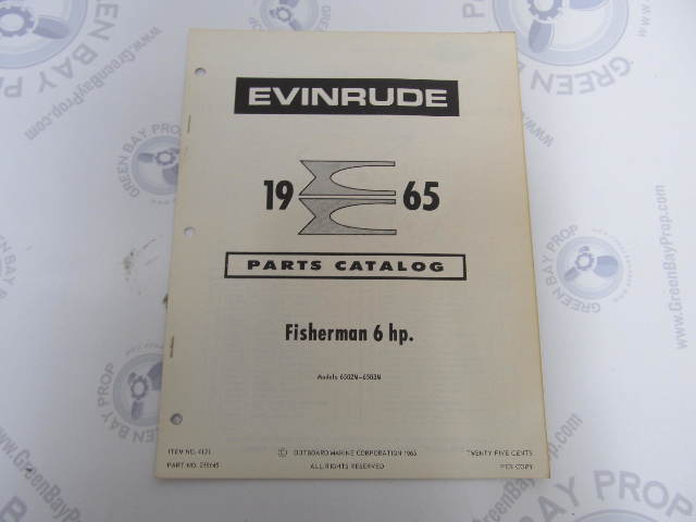 hight resolution of 278645 1965 evinrude outboard parts catalog 6 hp fisherman
