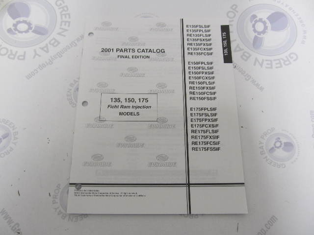 hight resolution of 5001688 omc brp evinrude 135 150 175 ficht outboard parts catalog 2001