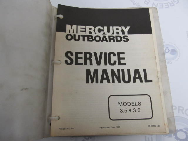 2001 Mercury 90 Elpto Manual