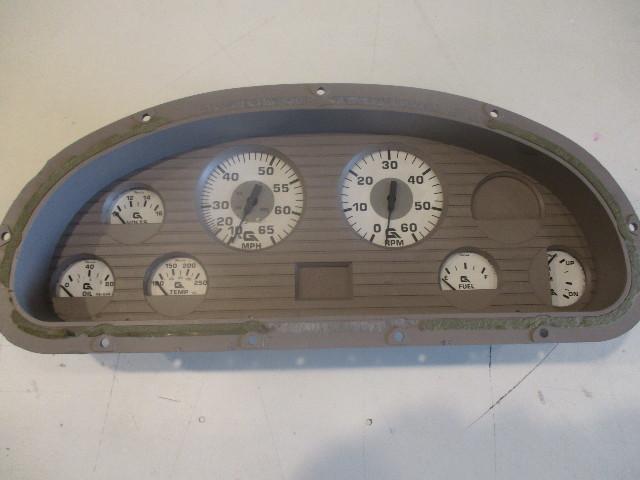 hight resolution of marine boat dash board gauge panel cluster set faria white