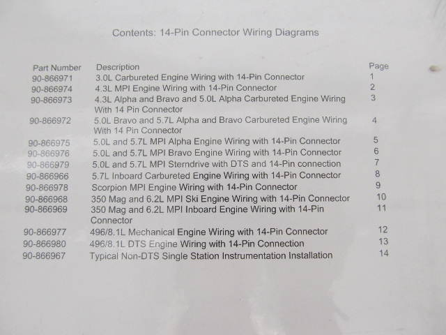 Complete Fits Mercruiser 14-Pin connector Wiring Diagram