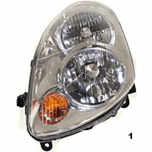 small resolution of fits 03 04 infiniti g35 sedan left driver halogen headlamp assembly busted auto parts