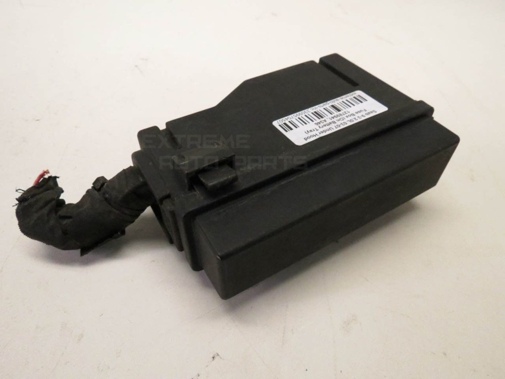 medium resolution of saab 9 3 12788777 secondary under hood fuse box on battery tray 03 04 05 06 07 extreme auto parts