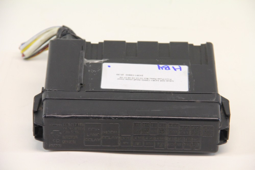 medium resolution of infiniti g35 24381 c9900 small under hood front fuse relay box 03 04 05 06 07 08 extreme auto parts