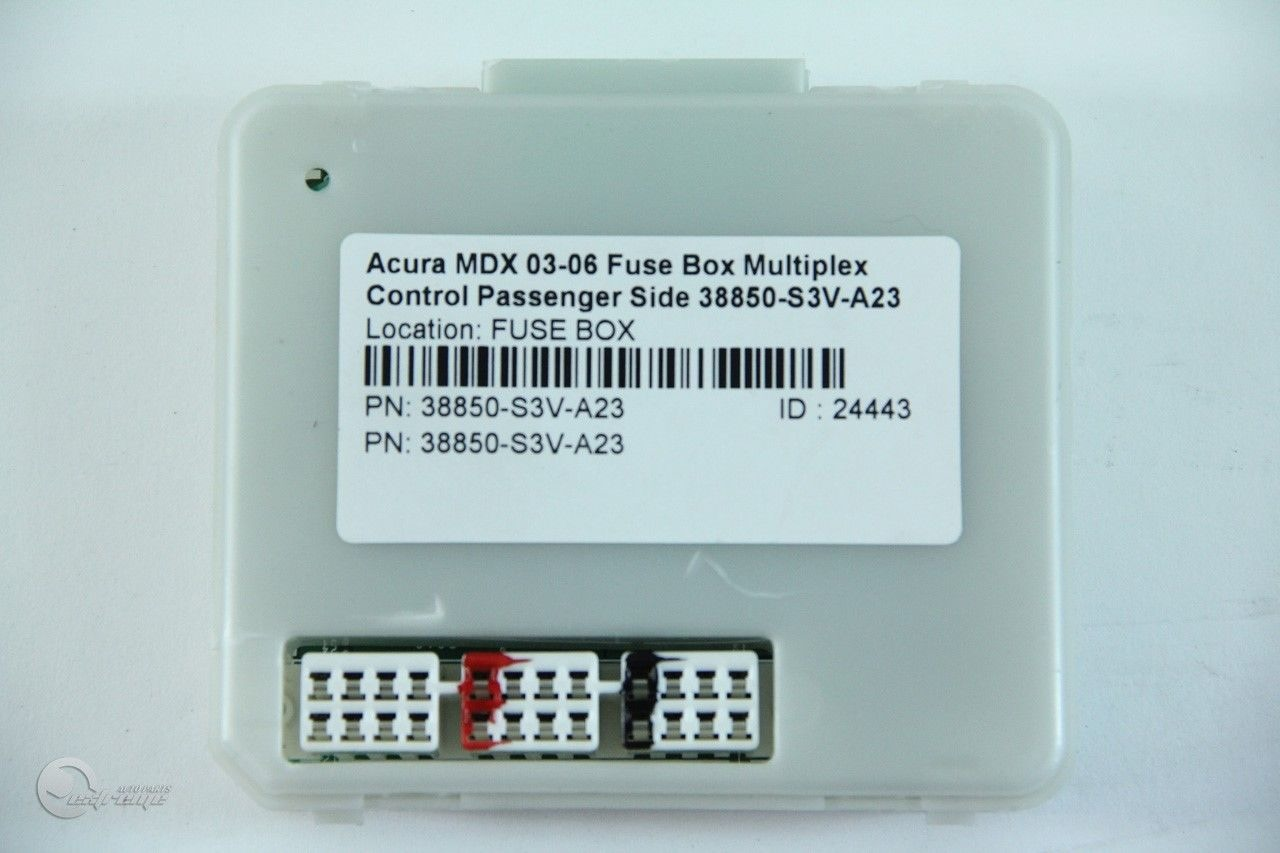 hight resolution of  acura mdx 03 06 fuse box multiplex control passenger side 38850 s3v a23