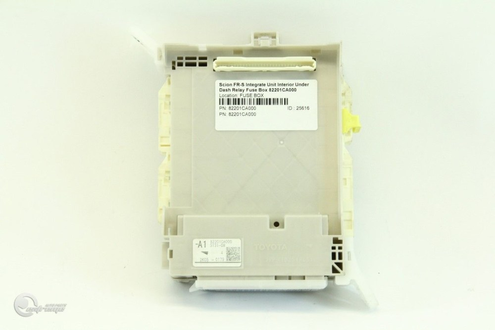 medium resolution of scion fr s integrate unit interior under dash relay fuse box 82201ca000 extreme auto parts