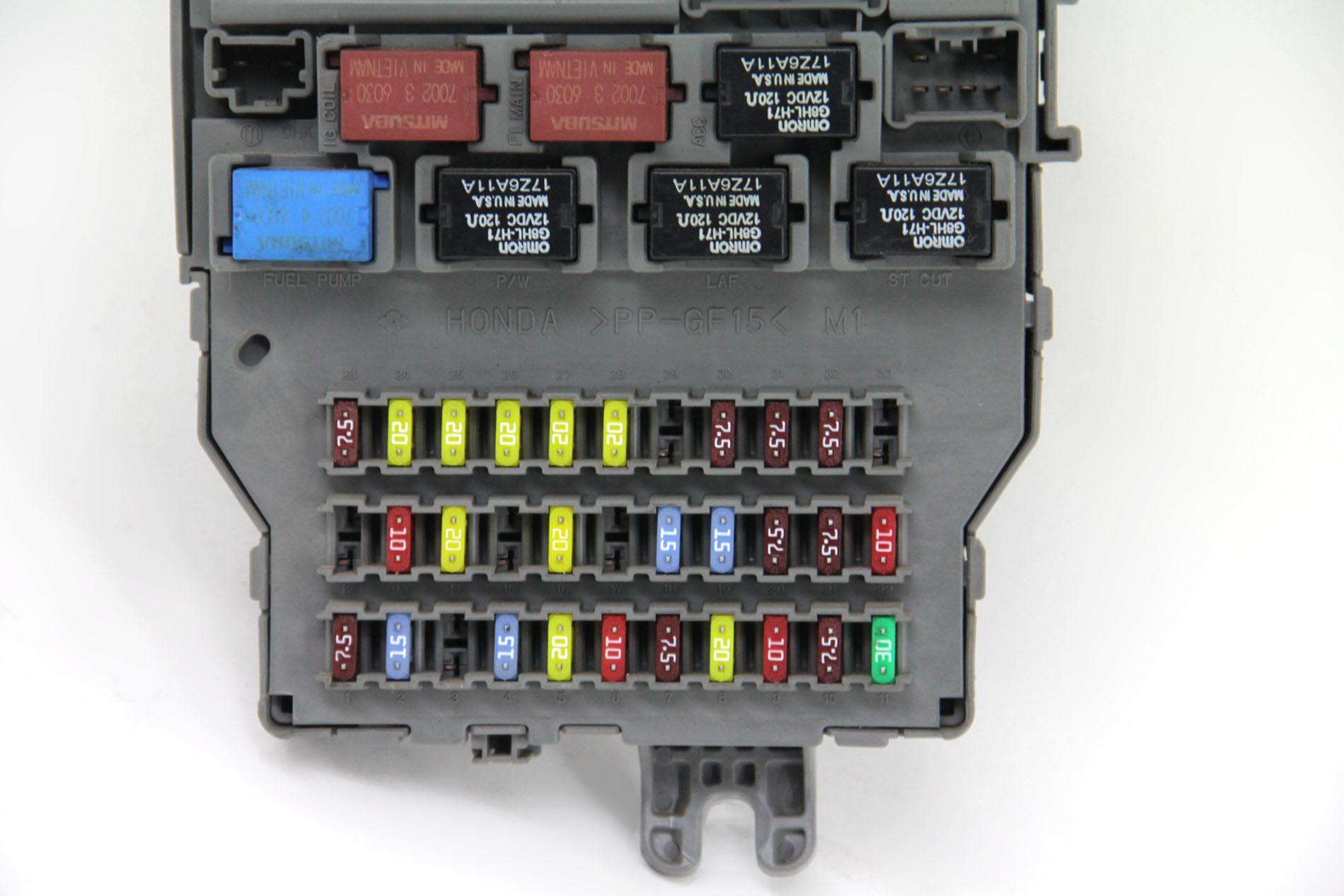 hight resolution of  honda ridgeline interior under dash fuse box oem 06