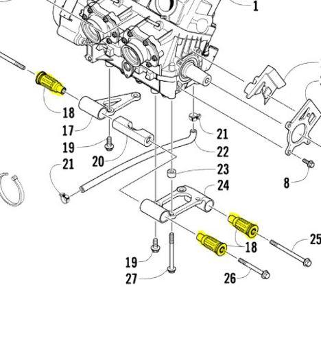 Arctic Cat Sno Pro 500 600 Snowmobile ATV UTV Rear Motor