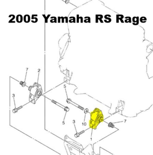 Yamaha Nytro Rage Vector Snowmobile Front PTO Side Motor