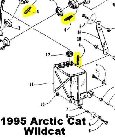 Exhaust Spring Replacement Kit for Arctic Cat Wildcat