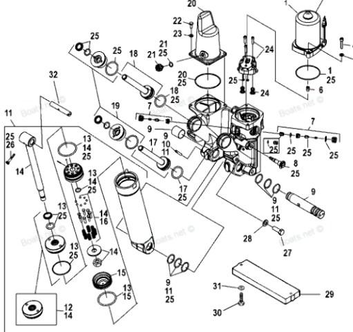NIB Mercury 135-150-175-200-225-250 O Ring Kit TILT ONLY