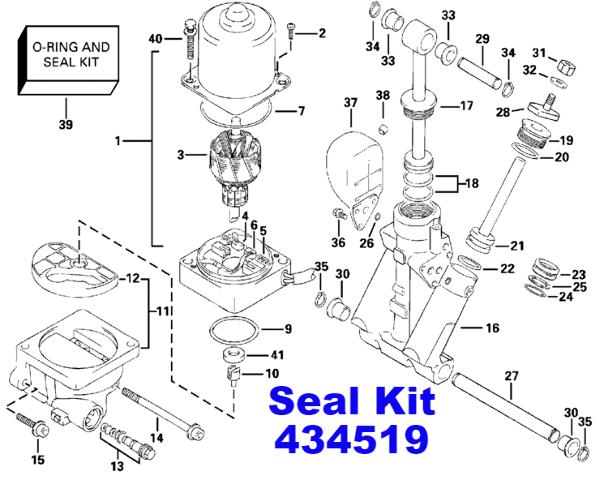 NIB Johnson Evinrude 140-150-175 HP Seal O-Ring Kit Power