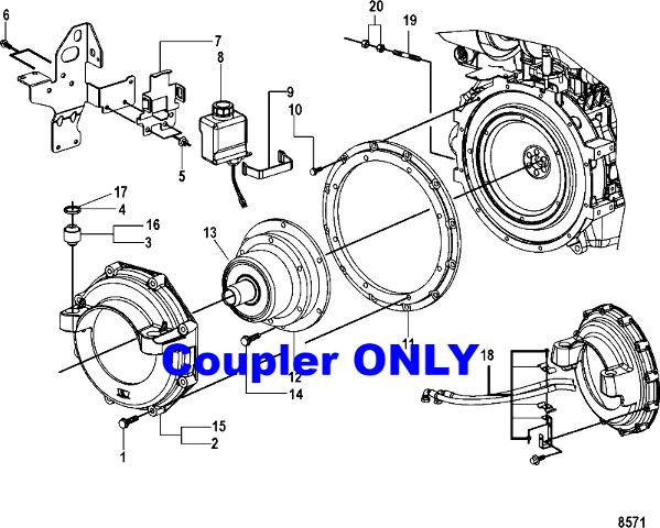 NIB Mercruiser Diesel Engine Coupler Coupling 805684A2 for