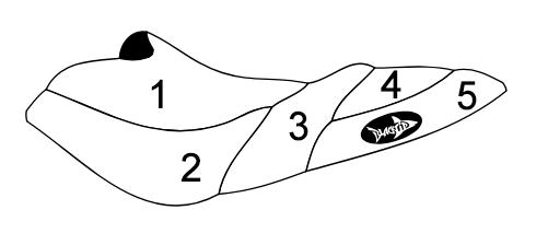 SBT Sea-Doo Seat Cover RX /RX /RX X DI 2000 2001 2002 2003