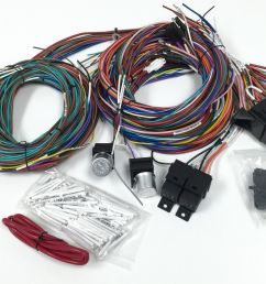 complete universal 12v 24 circuit 20 fuse wiring harness wire kit v8 rat hot rod [ 1600 x 1095 Pixel ]