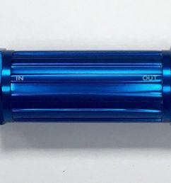 aluminum racing inline fuel filter w brass 150 micron element 6an [ 1600 x 863 Pixel ]
