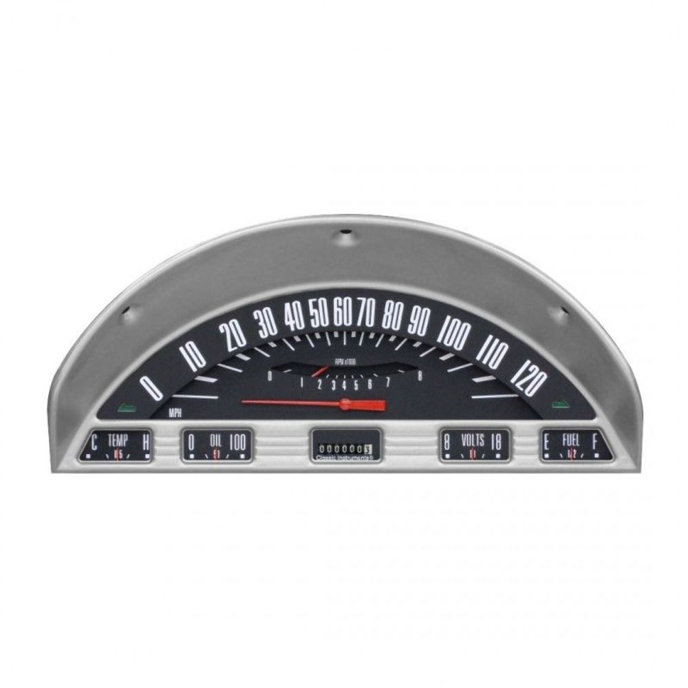 hight resolution of classic instruments 1956 ford f 100 truck dash gauge package black complete