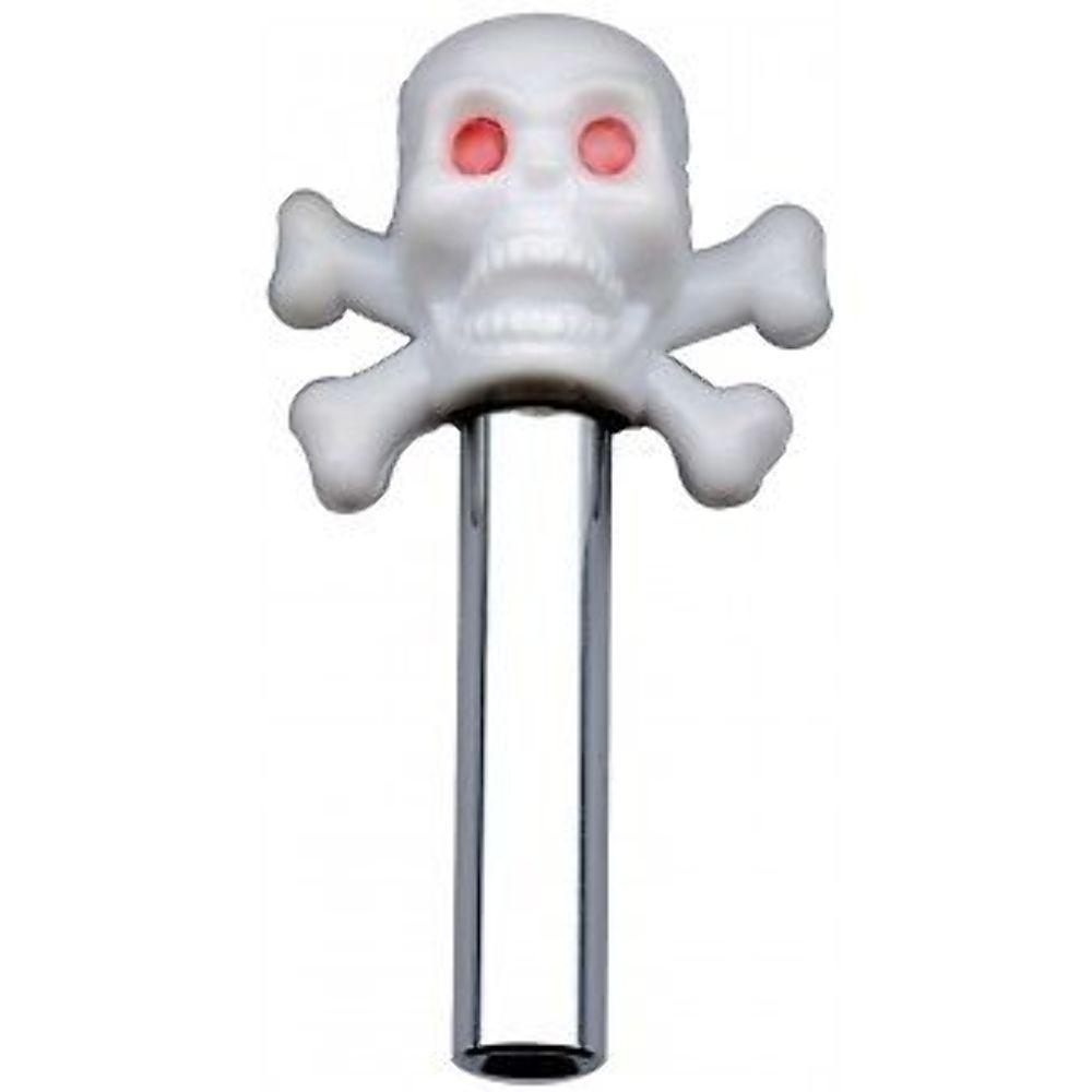 medium resolution of hot rod white skull door lock pulls with chrome tube 2 piece set