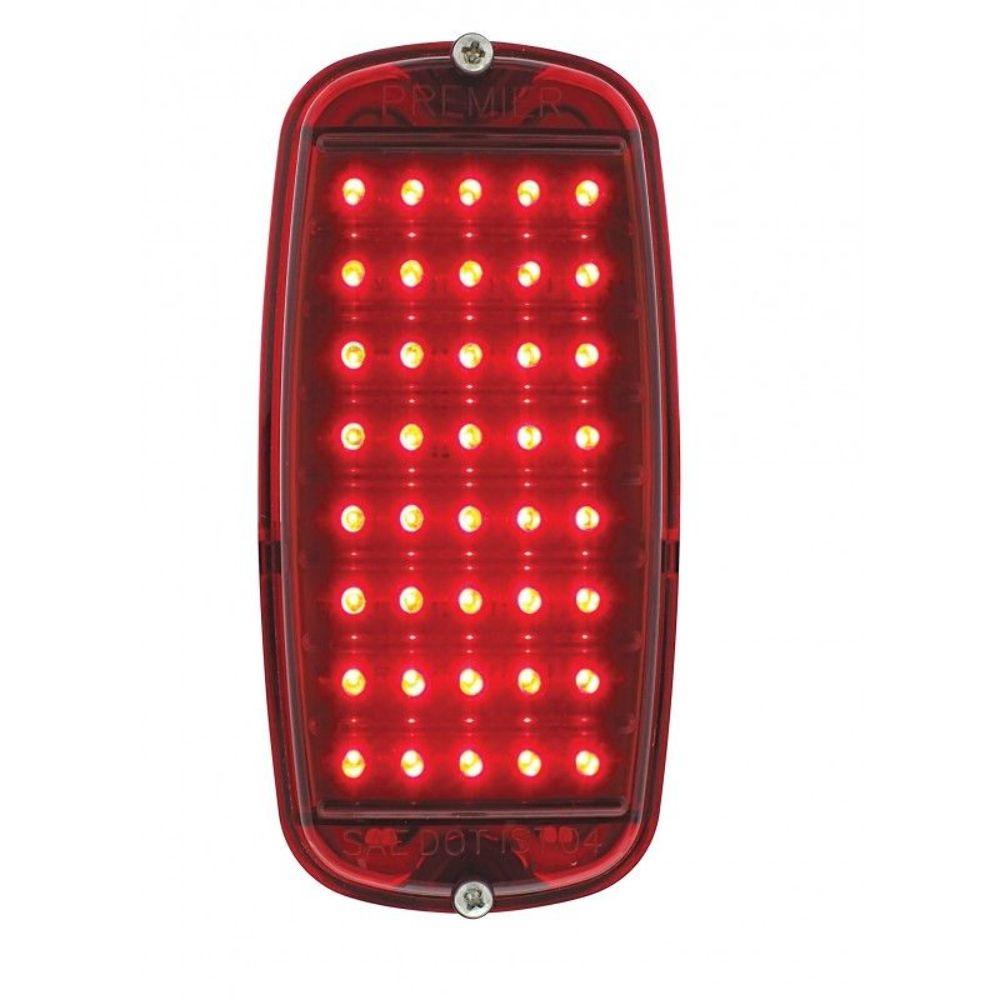 hight resolution of 1960 66 chevy pickup fleetside tail light assembly red led red rh ebay com