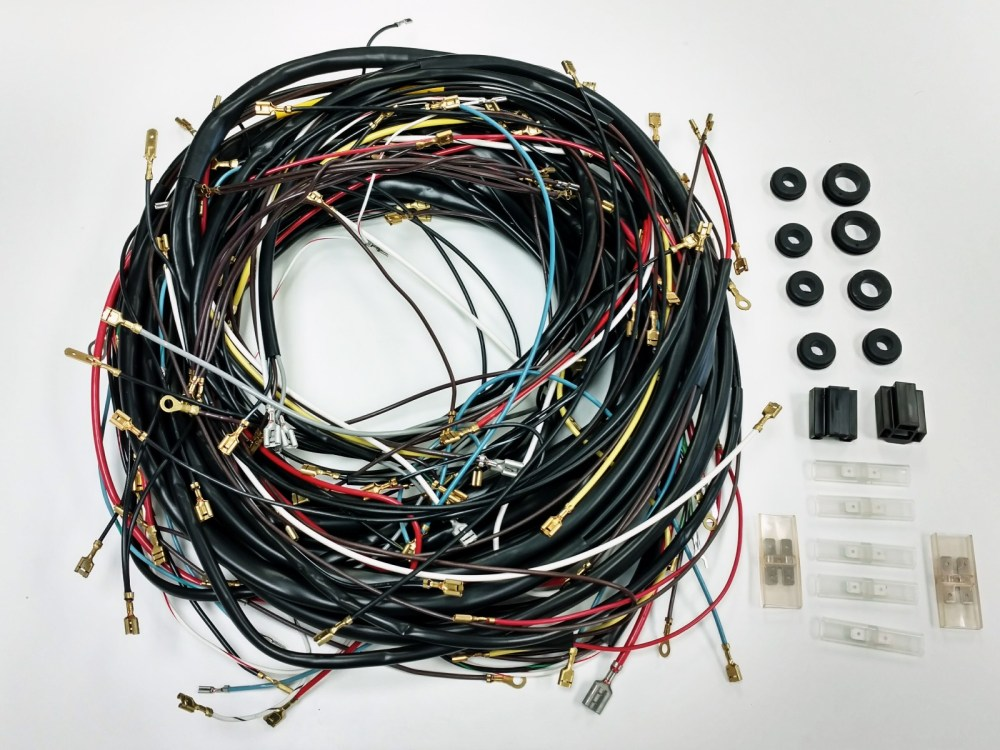 medium resolution of  1968 1969 all karmann ghia vw complete wiring works wire harness kit usa made