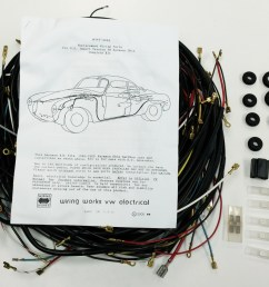 1968 1969 all karmann ghia vw complete wiring works wire harness kit usa made  [ 1600 x 1199 Pixel ]