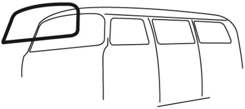 Windshield Seal w/ Molding Groove VW Type 2 Bus, 1968-79