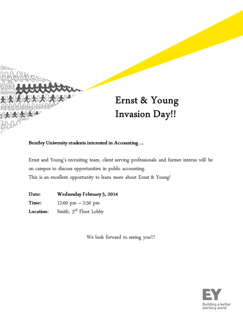 Ernst  Young Spring Invasion Day on 219 NEW DATE  Bentley CareerEdge