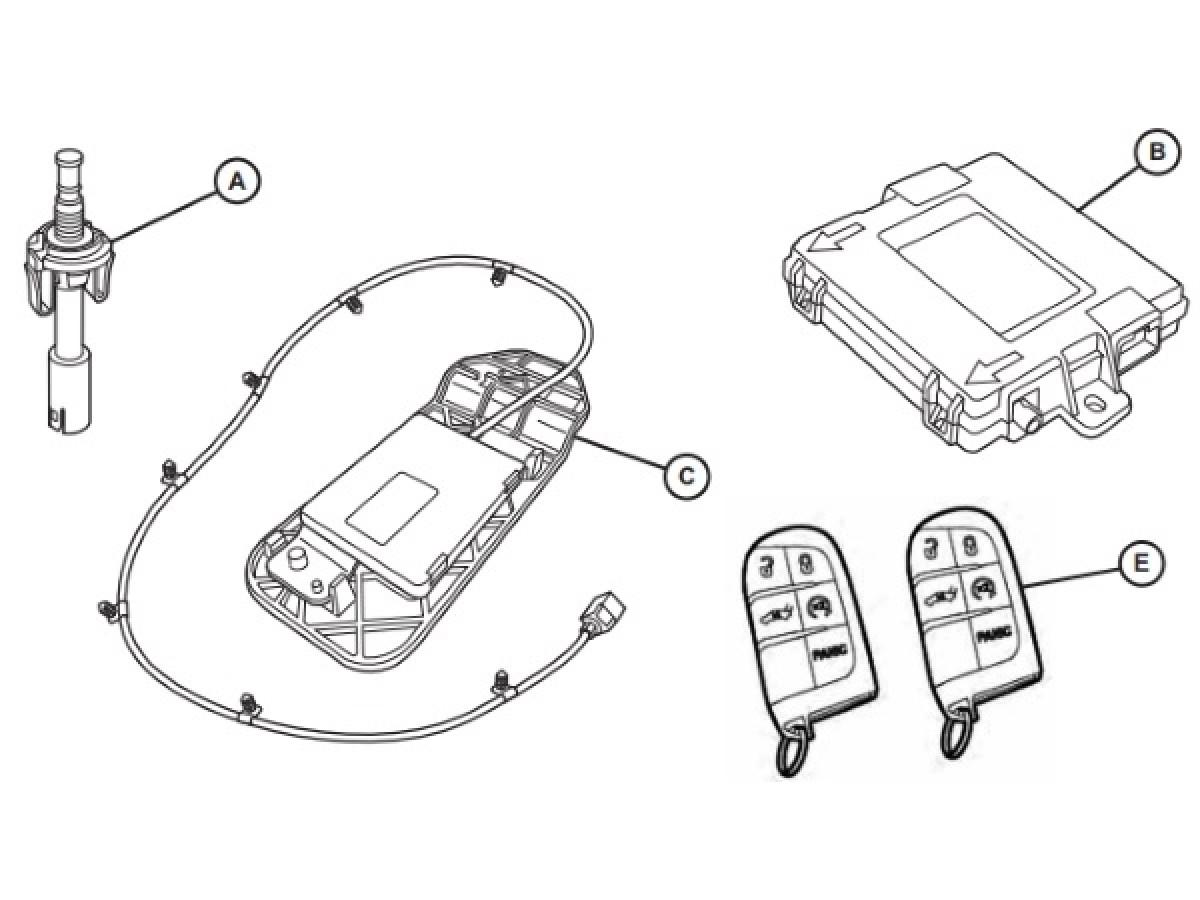Genuine Mopar Remote Start Kit (Part No: 82215575AB)