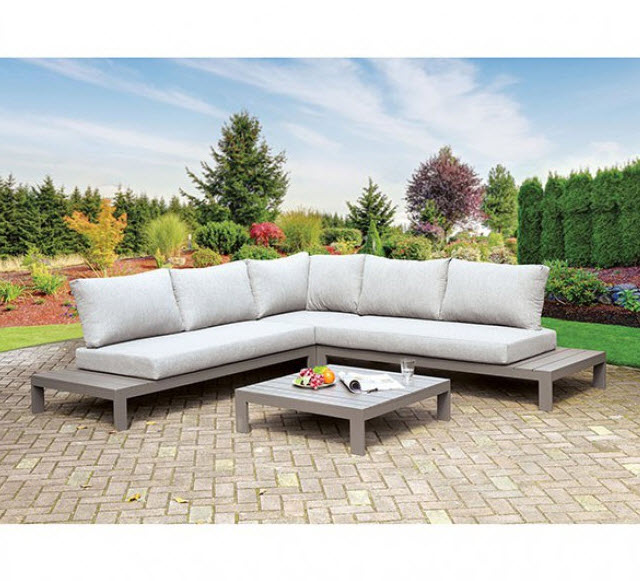eliana low lying patio sectional sofa