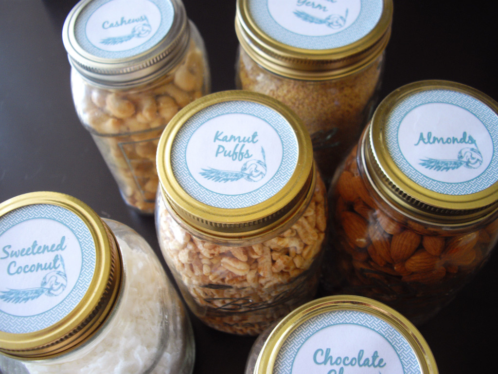Mason Jar Labels with free printable  cooking ala mel