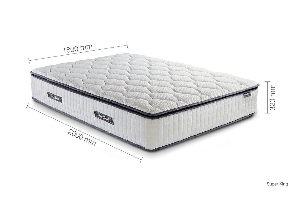 bliss 800 pillow top pocket hybrid super king size mattress