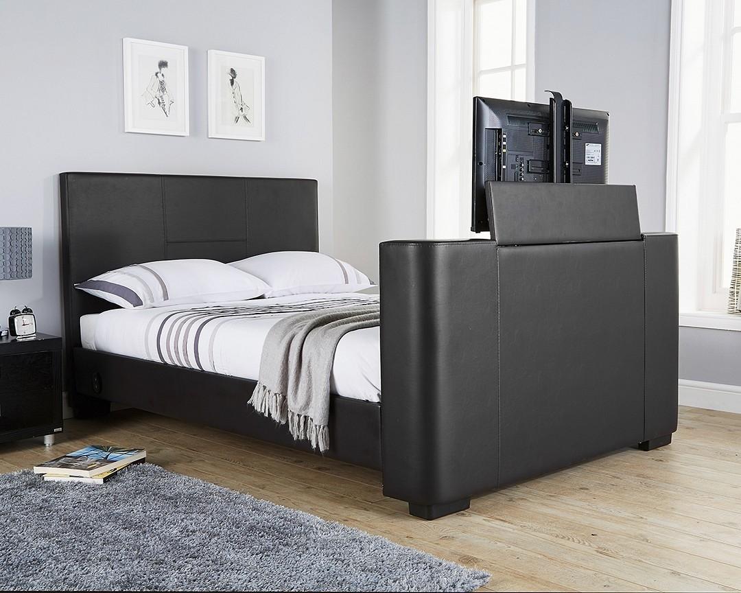 Nottingham Black King Size Tv Bed Frame