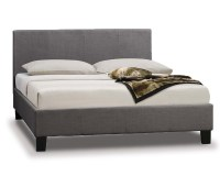 Parade Grey Fabric King Size Bed Frame - King Size Bed ...