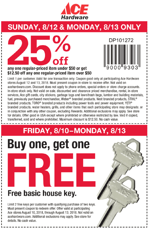 small resolution of ace hardware coupon july 2019 25 off a single item more at ace hardware