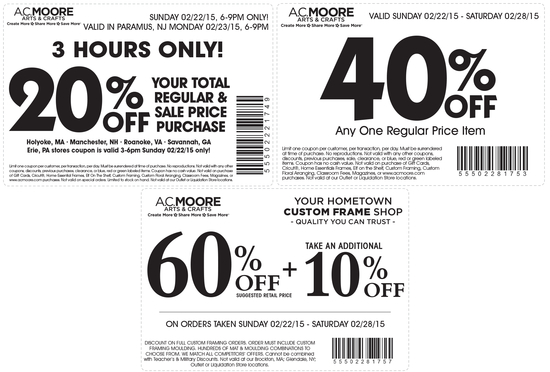 A.C. Moore June 2020 Coupons and Promo Codes