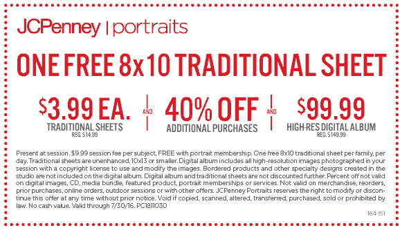 jcpenney coupons free 8x10