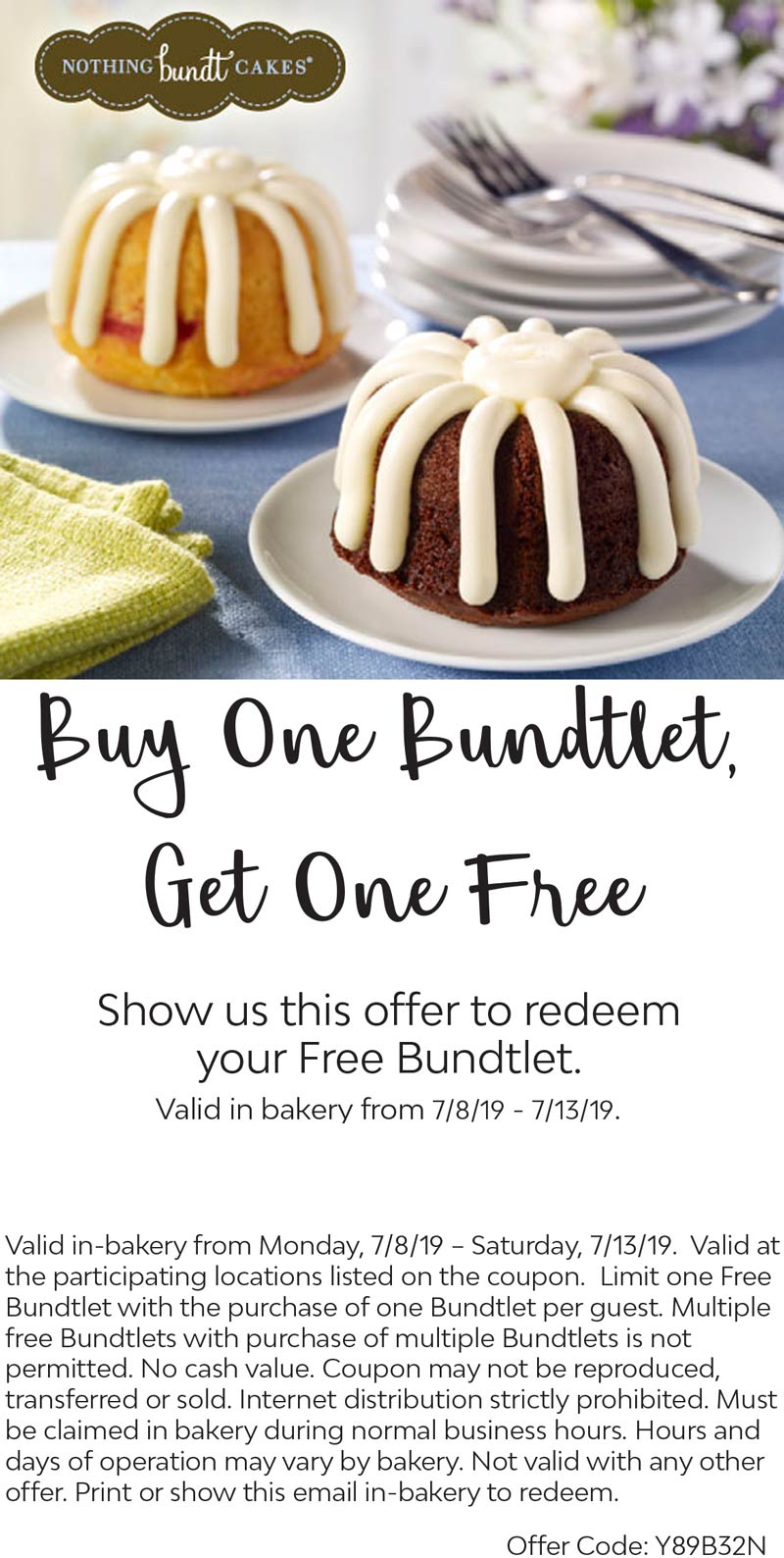 Nothing Bundt Cake Coupons : nothing, bundt, coupons, Nothing, Bundt, Cakes, March, Coupons, Promo, Codes