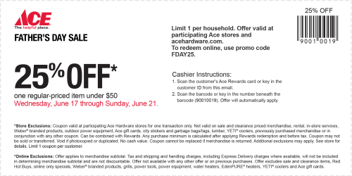 small resolution of ace hardware coupon july 2019 25 off a single item today at ace hardware