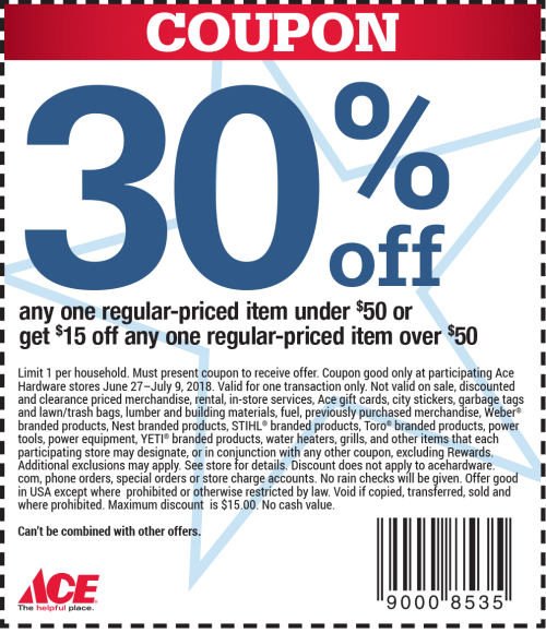 small resolution of ace hardware coupon july 2019 30 off a single item more at ace hardware