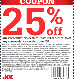 ace hardware coupon june 2019 25 off a single item at ace hardware [ 1000 x 1153 Pixel ]