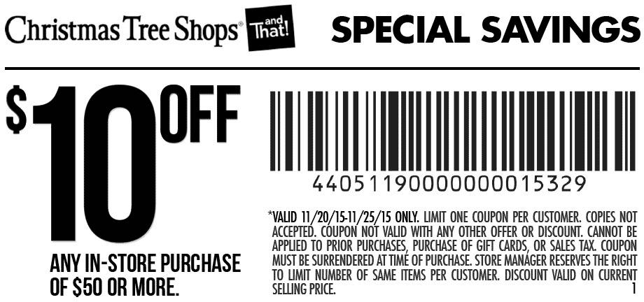 Christmas Tree Shops November 2020 Coupons and Promo Codes