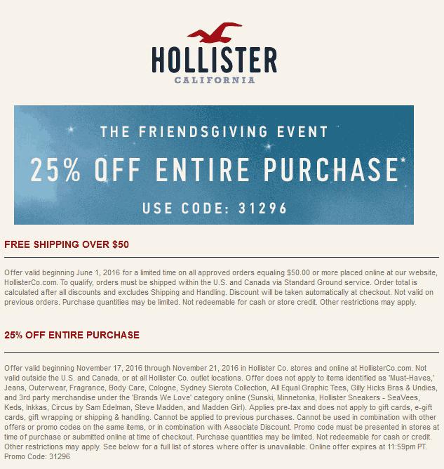 Discounts Hollister