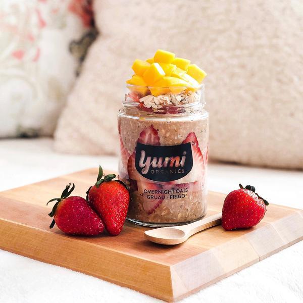 Yumi Organics overnight oats