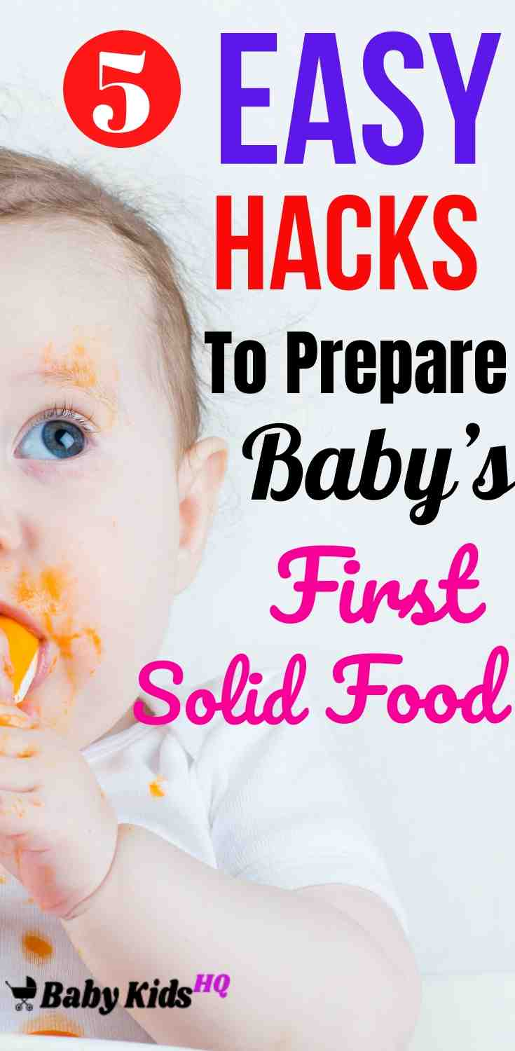 5 Easy Hacks To Prepare Baby's First Solid Food 4